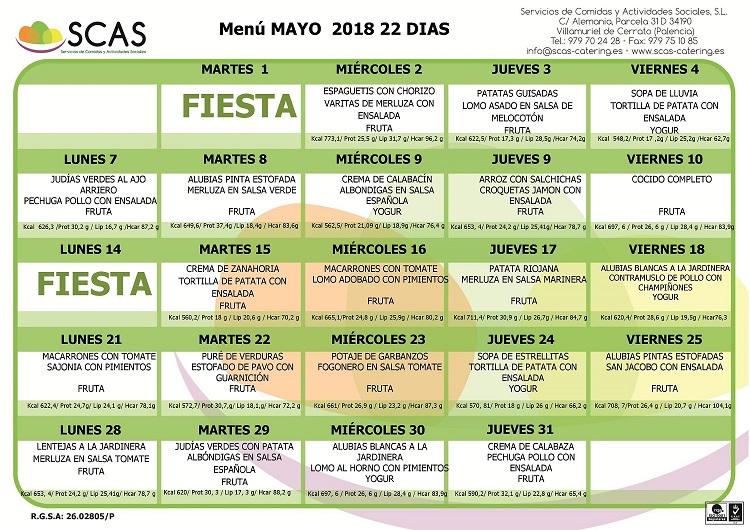 menu mayo de 2018