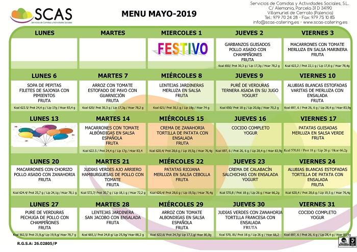 menu mayo 2019