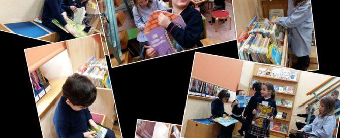 3º de infantil visita a la biblioteca