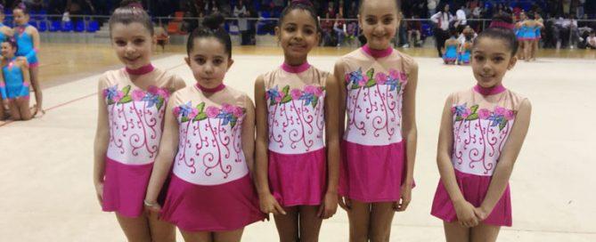 Equipo de gimnasia rítmica del colegio concertado Rafaela María de Valladolid