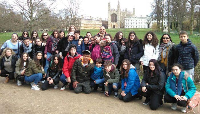 Viaje a Inglaterra, visita a Cambridge de los alumnos de ESO del Colegio Rafaela María de Valladolid