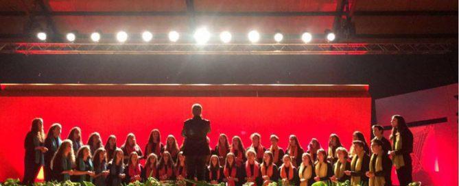 Miembros del coro del Colegio Rafaela María premiados con la formación In Crescendo Young Singers