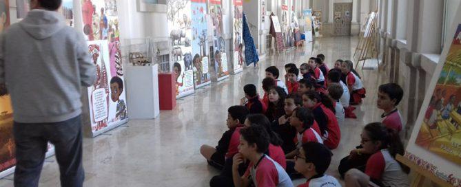 Exposición África colegio centro Valladolid