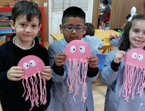 Medusas en el aula de 3º de Infantil