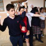 Aviones de papel en educación secundaria del colegio Rafaela María del centro de Valladolid