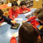 1º de primaria del Colegio Rafaela María visita la Biblioteca Javier Martín Abril.