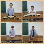 Los alumnos de 5º de primaria del Colegio Rafaela María construyen puentes.
