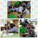 El alumnado de primaria del Colegio Rafaela María se inicia en la robótica.