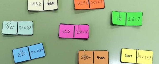 Los alumnos y alumnas del Colegio Rafaela María de Valladolid aprenden con un dominó decimal.