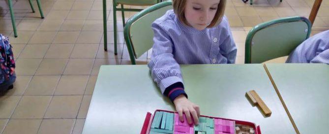 Matemáticas manipulativas en 1º de primaria