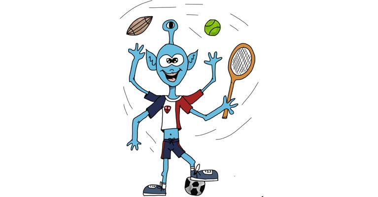 Mascota de la semana deportivo cultural del colegio Rafaela María de Valaldolid