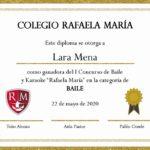 Ganadores del I Concurso de karaoke y danza del Colegio Rafaela María de Valladolid.
