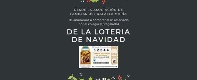 Lotería de Navidad del Colegio Rafaela María de Valaldolid.