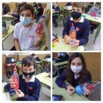 Los alumnos y alumnas de 6º de primaria del Colegio Rafaela María de Valladolid han hecho maquetas de los aparatos que intervienen en la función de nutrición.