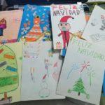 Los alumnos y alumnas de 5º de primaria del Colegio Rafaela María de Valladolid envían postales navideñas a una residencia de Zamora.