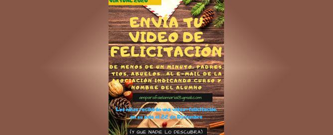 El AMPA del Colegio Rafaela María de Valladolid propone hacer vídeos de felicitación para sorprender a los niños y niñas.