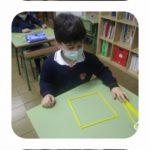 Polígonos en Educación Infantil del colegio concertado Rafaela María en el centro de Valladolid