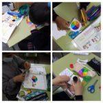 Los alumnos y alumnas de sexto del Colegio Rafaela María de Valladolid experimentan con el disco de Newton.