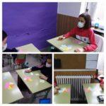 Los alumnos y alumnas de sexto de primaria del Colegio Rafaela María de Valladolid trabajan de manera manipulativa las simetrías, traslaciones y giros