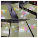 Los alumnos y alumnas de sexto de primaria del Colegio Rafaela María de Valladolid trabajan de manera manipulativa las simetrías, traslaciones y giros.